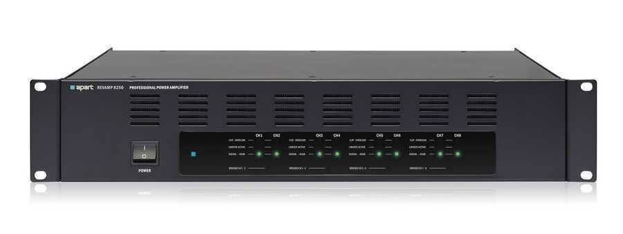- Apart REVAMP8250 8 Kanal Power Amfi