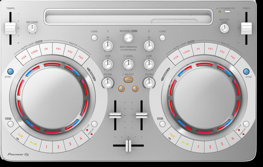 - Pioneer DJ DDJ-WeGO4-W 2 Kanal Kompakt DJ Controller