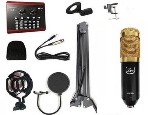 - Lea L-2800A Condenser Mikrofon Seti ve L8 Ses Kartı