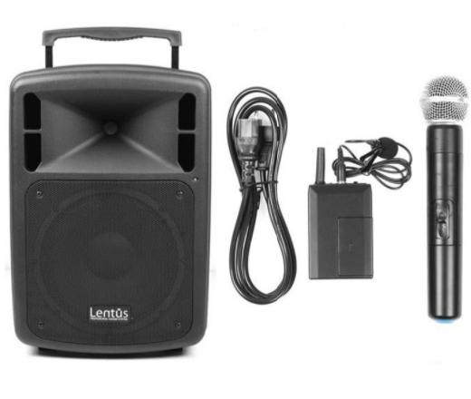 - Lentus LNT-P-100 El ve Yaka Mikrofonlu Taşınabilir Hoparlör