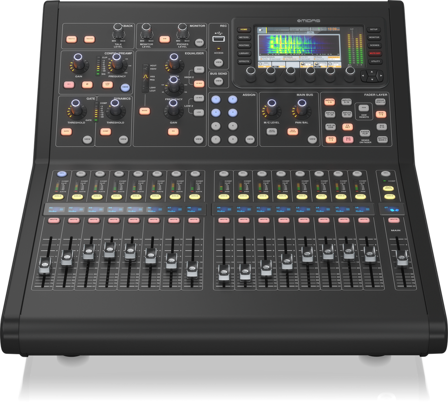 - MIDAS M32R LIVE Digital Console for Live and Studio with 40 Input Channels, 16 Midas PRO Microphone Preamplifiers and 25 Mix Buses and Live Multitrack Recording
