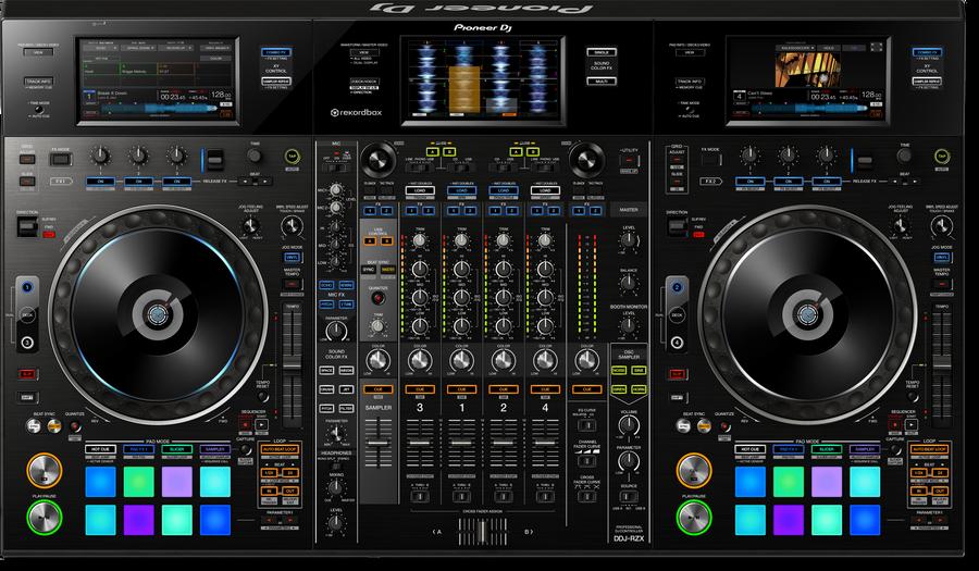 - Pioneer DJ DDJ-RZX Profesyonel 4 Kanal Rekordbox Controller