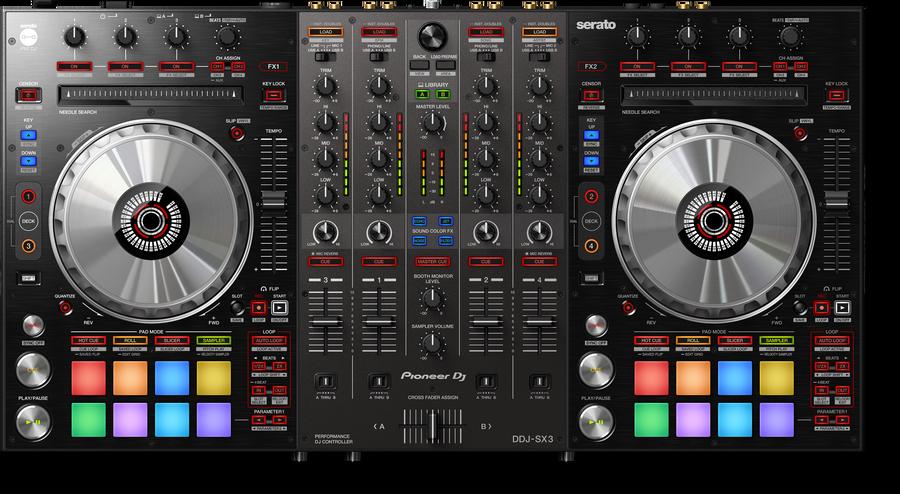 - Pioneer DJ DDJ-SX3 4 Kanal Controller