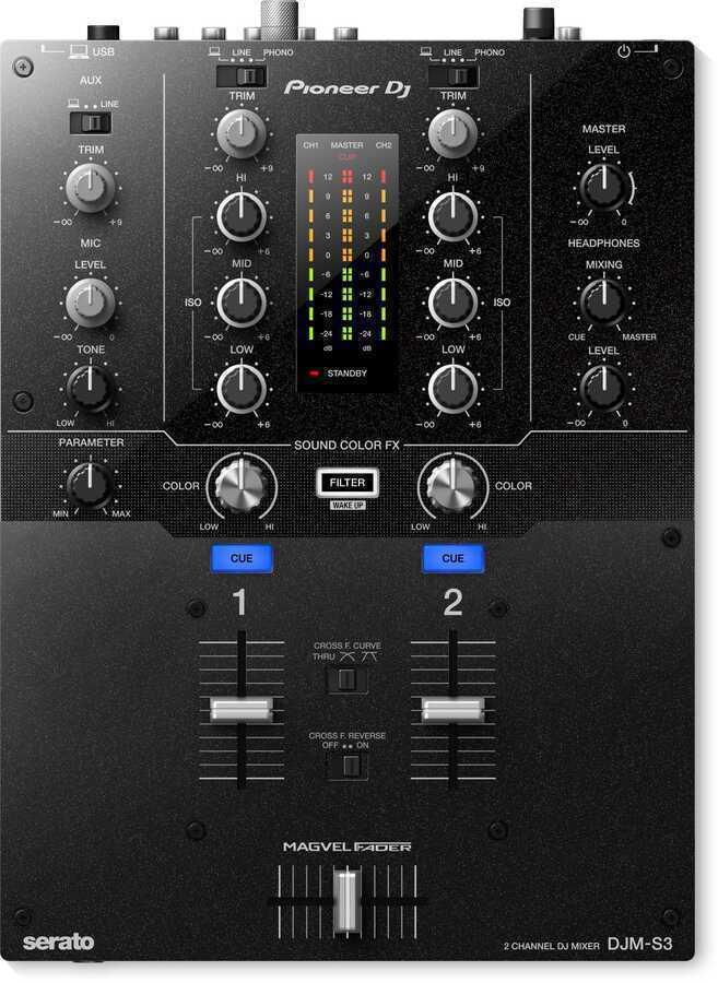 - Pioneer DJ DJM-S3 2 Kanal Efektli Dj Mikseri