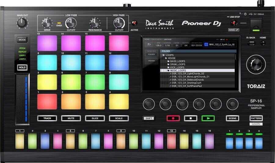 - Pioneer DJ TORAIZ TSP-16 Profesyonel Drum Sampler ve Sequencer