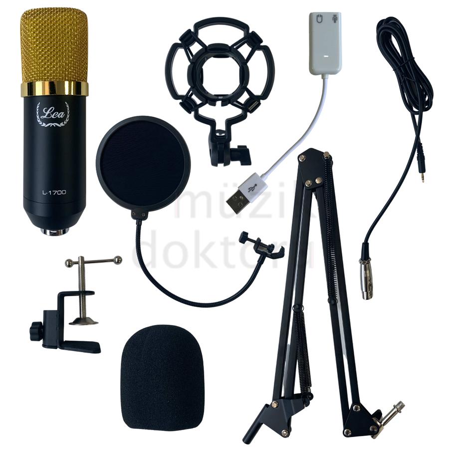- Lea L-1700 Condenser Yayın ve Kayıt Mikrofon Seti