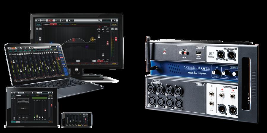 - Soundcraft Ui12 / 12 Kanal Rack Tipi Dijital mİKSER