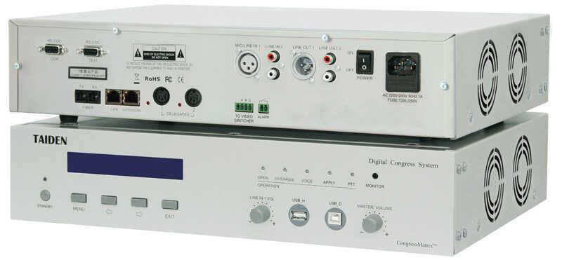 - Taiden HCS-4100MB/50 Dijital Konferans Sistemi Merkez Ünitesi