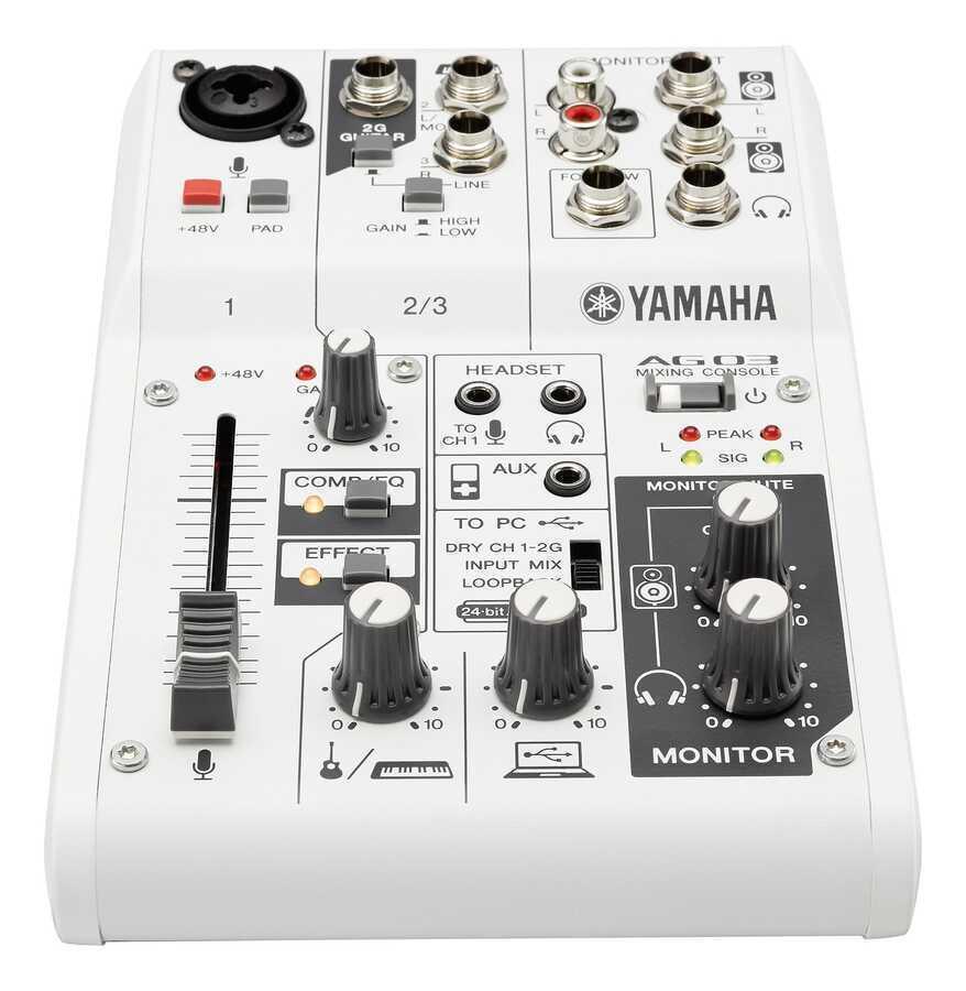 - Yamaha AG03 3 Kanal Analog Deck Mikser