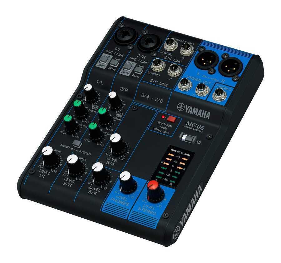 - Yamaha MG06 6 Kanal Analog Mikser